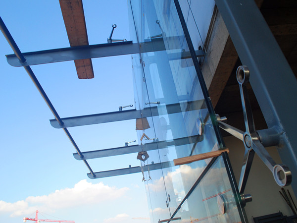 200mm spider fitting glass wall and canopy & spider fitting glass wall installation