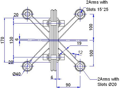 with fin spider fitting drawing