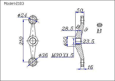 glass curtain wall spider fittings drawing