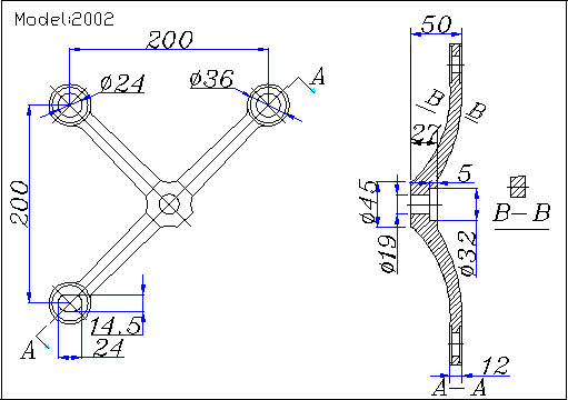 albang spider fittings drawing