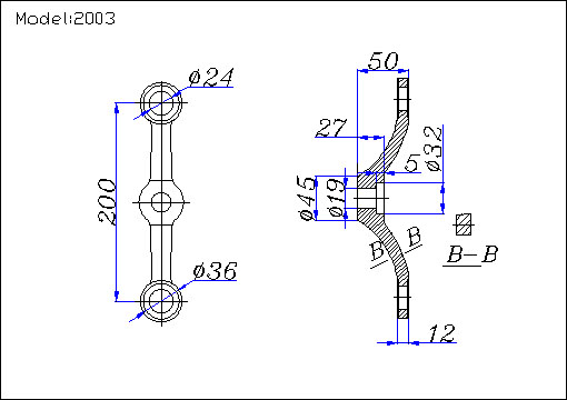spider fittings manufacturer drawing