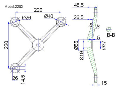 spider fittings glass canopy usa drawing