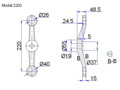 adjustable spider fittings drawing