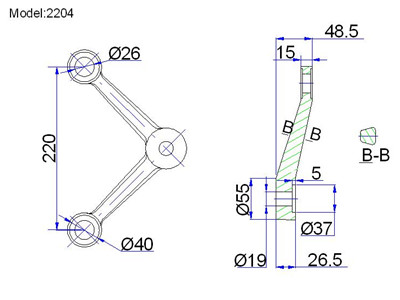 adjustable spider fittings for glass drawing