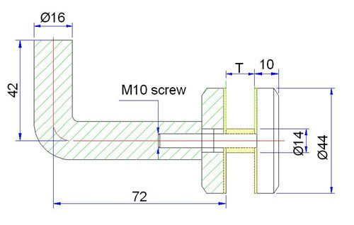 stainless steel handrail bracket drawing
