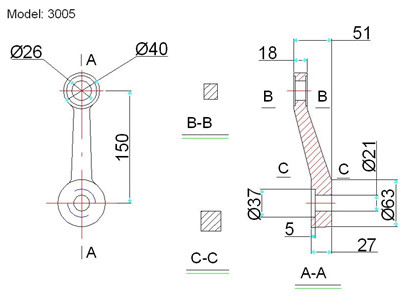 spider fitting connection drawing