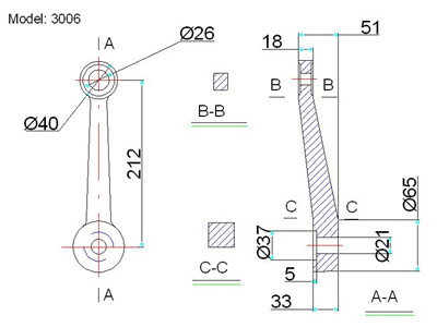 Spider Fitting Design on cable clamp drawing