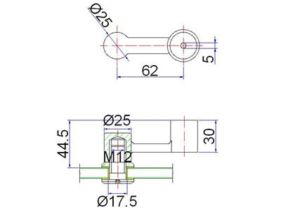 steel handrail bracket drawing