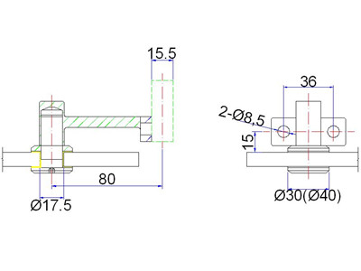 exterior handrail bracket drawing