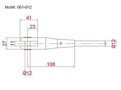 tension rod system drawing