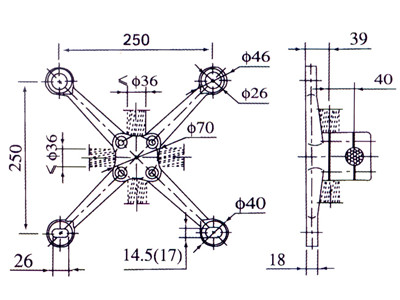 spider fitting installation drawing