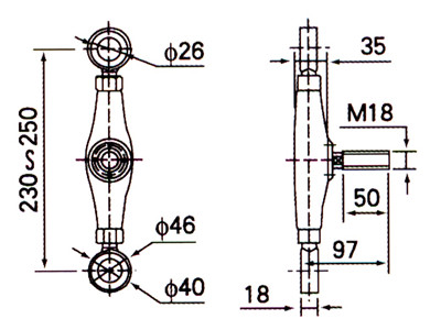 technical drawing spider fitting drawing