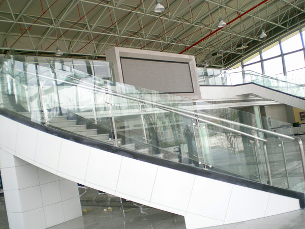 glass stair case project
