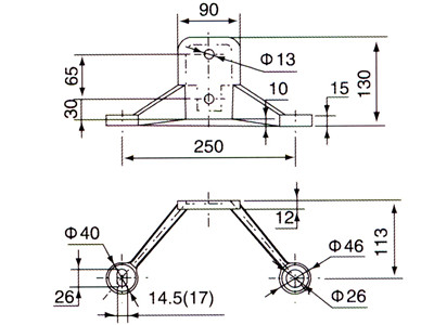 fin spider fitting drawing