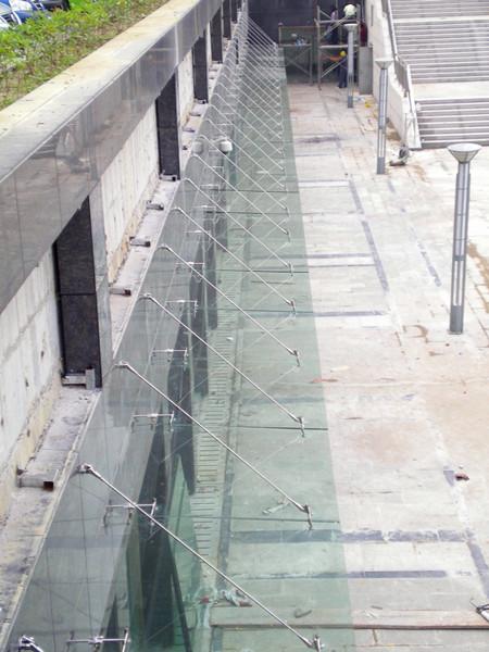 Zhongxiang glass canopy project