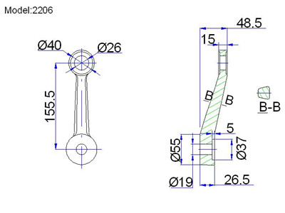 cable struts for spider fittings drawing