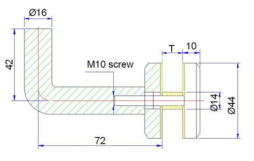 stainless steel handrail bracket drawing