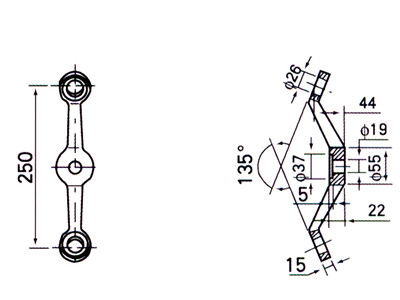 albang spider fitting drawing