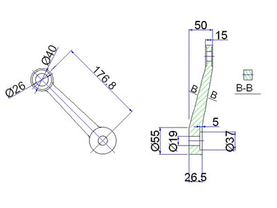 spider fitting cad detail drawing