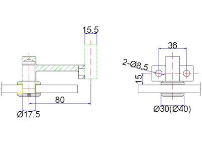 exterior handrail bracket drawing