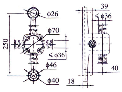 spider fitting stair drawing