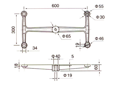 spider fitting glass clamps drawing