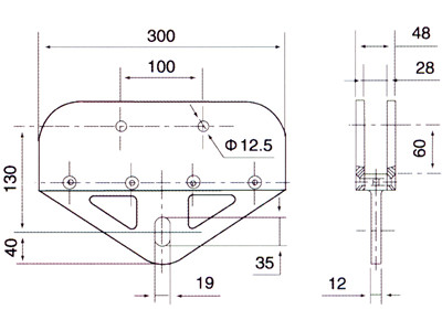 stainless steel spider clamp drawing